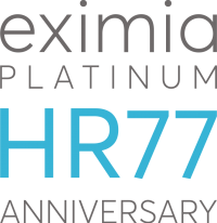 Logo EXIMIA HR77 Platinum Anniversary
