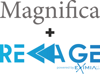 Logo EXIMIA Magnifica + Reage